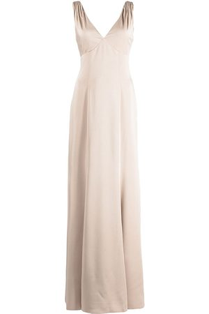Marchesa Notte Bridesmaids Women Evening dresses - Forli V-neck bridesmaid gown - Neutrals