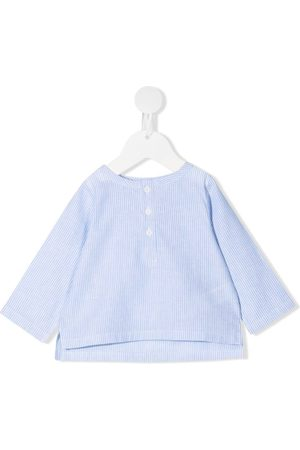 DOUUOD KIDS Striped long-sleeved blouse