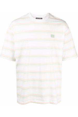 Acne Studios Face-patch striped T-shirt