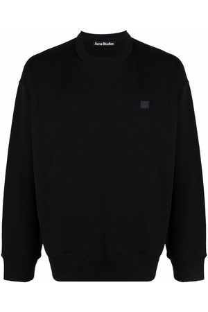 Acne Studios Sweatshirts - Face patch oversized sweatshirt