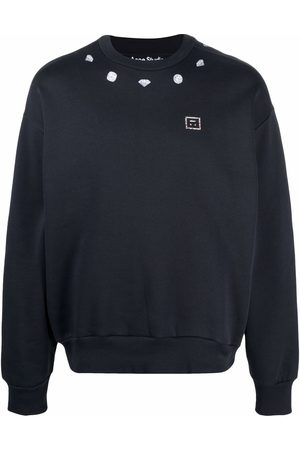 Acne Studios Diamond-print cotton sweatshirt