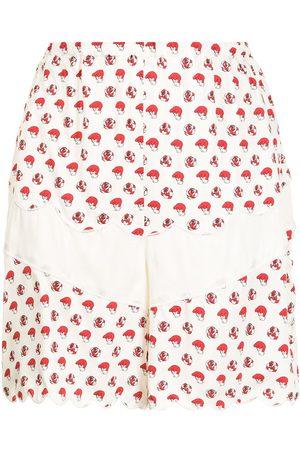 UNDERCOVER Graphic-print mini skirt
