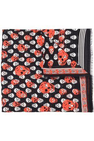 Alexander McQueen Women Scarves - Skull-print frayed scarf