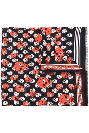 Alexander McQueen Women Scarves - Skull print modal scarf