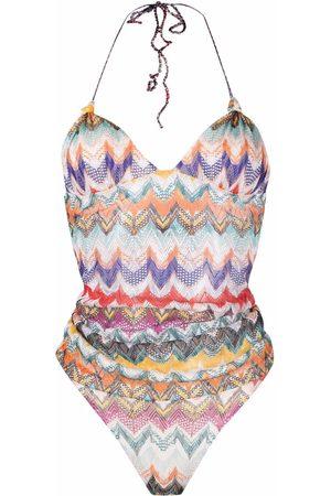 Missoni Women Swimsuits - Chevron knit one-piece swimsuit