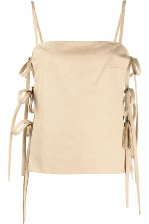 MSGM Women Camisoles - Side-tie cami top - Neutrals