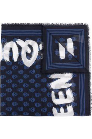 Alexander McQueen Skull-print logo scarf