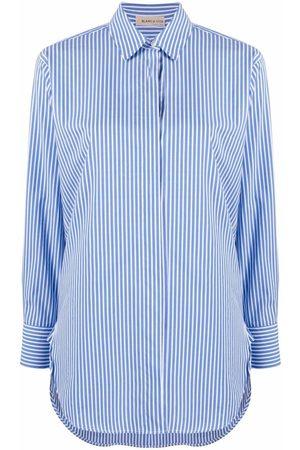BLANCA Women Shirts - Stripe-print cotton-blend shirt