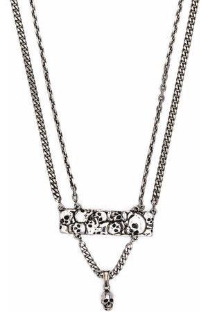 Alexander McQueen Men Necklaces - Skull-embellished layered necklace