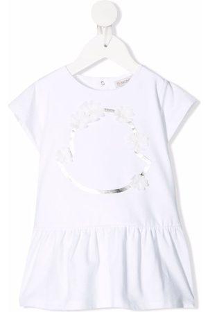 Moncler Baby Casual Dresses - Floral-embellished flared T-shirt dress