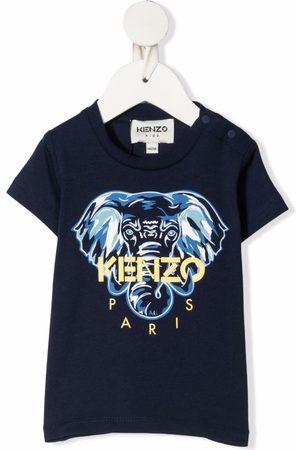 Kenzo T-shirts - Elephant-print cotton T-shirt