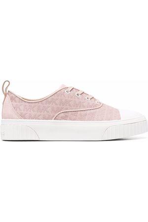 Michael Kors Women Sneakers - Logo-jacquard linen trainers