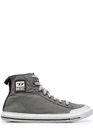 Diesel Logo-patch high-top sneakers - Grey