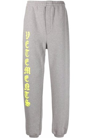 Vetements Logo-print track pants - Grey