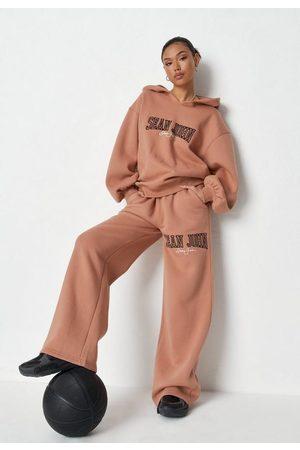 Missguided Women Sweatpants - Sean John X Tan Pocket Detail Straight Leg Joggers