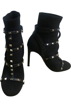 VALENTINO GARAVANI Rockstud Cloth Ankle boots for Women