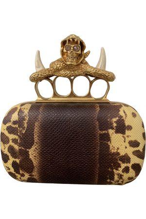 Alexander McQueen Knuckle Leather Clutch Bag for Women