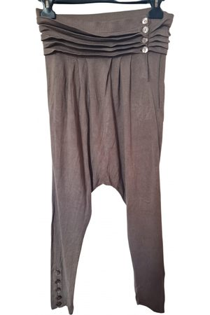 Stefanel Women Pants - \N Cotton Trousers for Women
