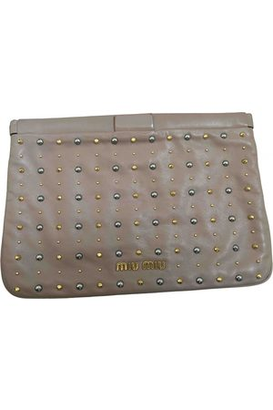 Miu Miu Women Clutches - \N Leather Clutch Bag for Women