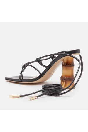 GIA Women Heeled Sandals - Women's Suede Strappy Heeled Sandals