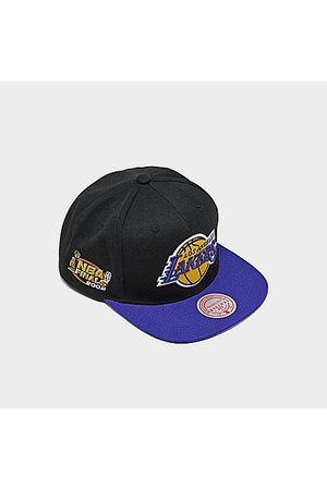 Mitchell And Ness Mitchell & Ness Los Angeles Lakers NBA 2002 Finals Patch Snapback Hat in /