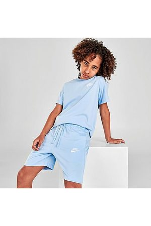 Nike Boys Sports Shorts - Boys' Sportswear Jersey Shorts in /Psychic Size Small 100% Cotton/Polyester/Knit