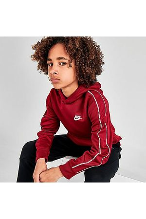 Nike Boys' Big Kids' Sportswear Repeat Tape Hoodie in /Team Size Small 100% Polyester/Knit