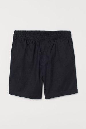 H & M Regular Fit Linen-blend Shorts