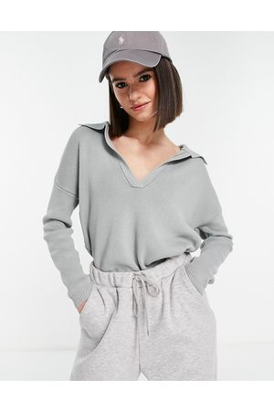 Fashion Union Wide collar ribbed sweater - part of a set