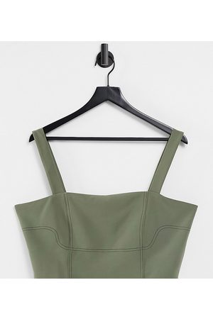 4th & Reckless Tall Women Crop Tops - Utility top in olive - part of a set