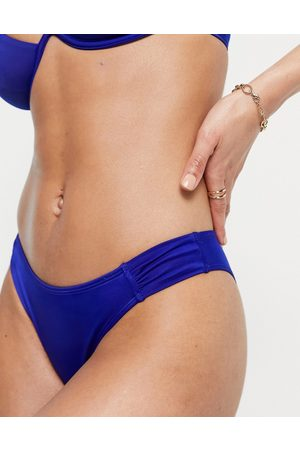 Dorina Majorelle high leg bikini bottoms in blue-Blues