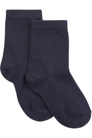 MP Kids - Ankle Cotton Plain Marine - Unisex - 25-28 (2-4 Years) - Navy - Socks