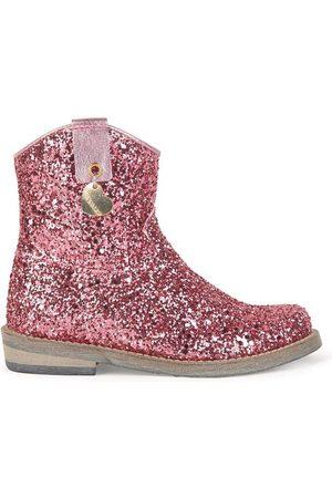MONNALISA Glitter Boots - Girl - 24 (UK 7) - - Ankle boots