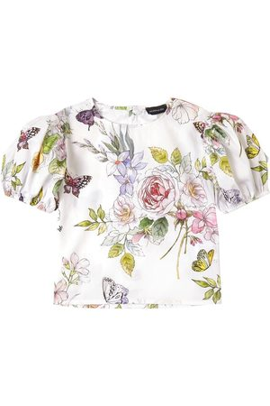 MONNALISA Marika Tessuto Print Blouse - Girl - 4 years - - T-shirts