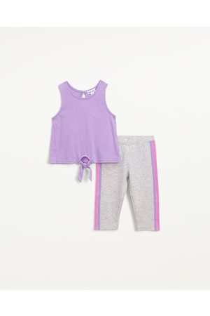 Splendid Toddler Girls Toddler Girl Tie Front Legging Set Frost Amethyst - Size 2T