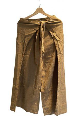Free People \N Linen Trousers for Women