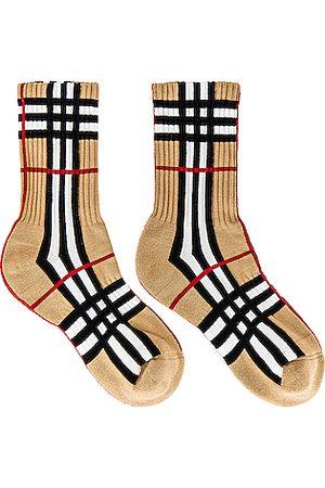 Burberry Vintage Check Socks in Tan