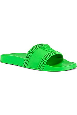 VERSACE Men Sandals - Slide Sandal in Green