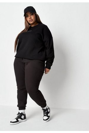 Missguided Women Sweatpants - Plus Size Tie Waist Joggers