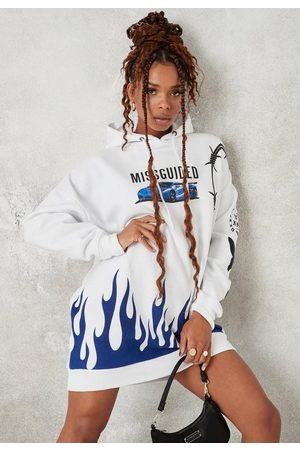 Missguided Butterfly Graphic Hoodie Dress