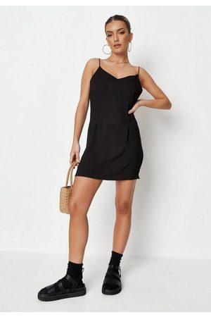 Missguided Women Casual Dresses - V Neck Cami Strappy Slip Mini Dress