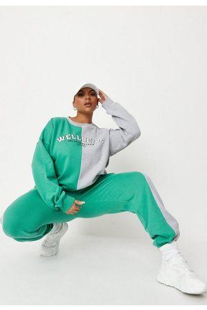 Missguided Women Sweatpants - Plus Size Colorblock Joggers