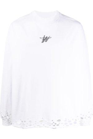 We11 Done Branded perforated sweatshirt
