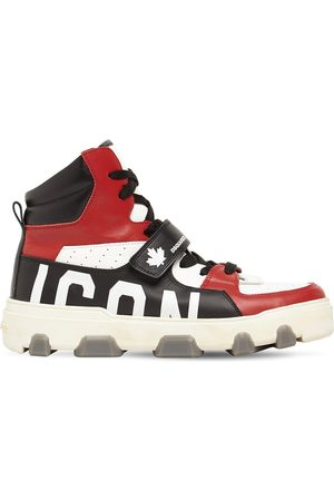 Dsquared2 Basket Icon Leather High-top Sneakers