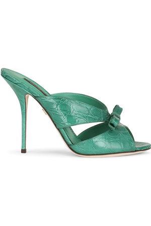 Dolce & Gabbana Women Mules - Bow detail mules - 8D528 EMERALD/
