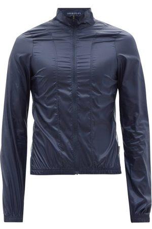 Cafe du Cycliste Petra Zipped Technical-shell Cycling Jacket - Mens - Navy