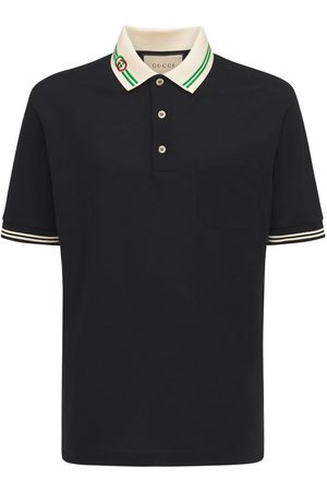 Gucci Interlocking G Cotton Piquet Polo