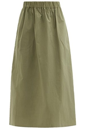 BELIZE Women Midi Skirts - Amia Cotton-poplin Midi Skirt - Womens