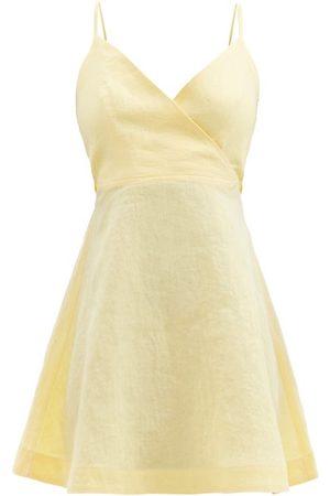 Casa Raki Ofelia Back-ties Organic-linen Mini Dress - Womens