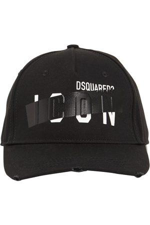 Dsquared2 Men Caps - Icon Taped Cotton Gabardine Cap